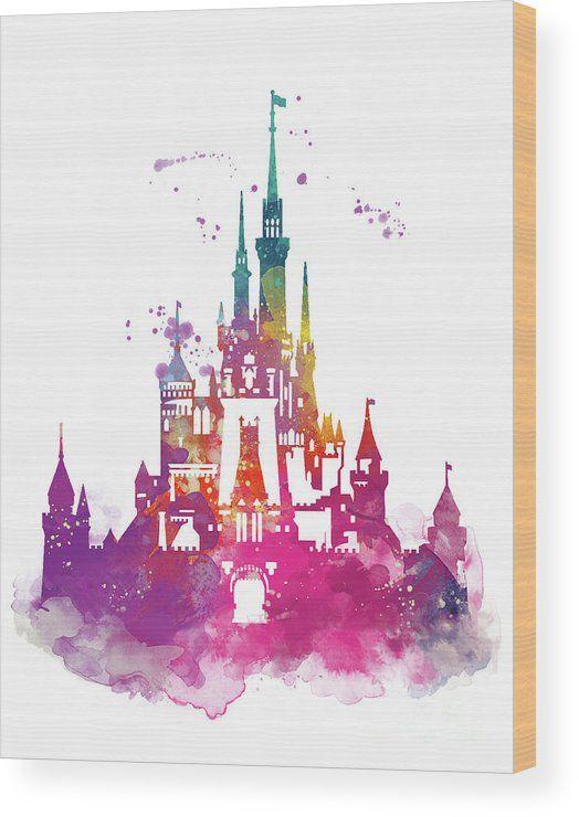 524x740 Magic Kingdom Wood Print By Monn Print Art Wood Print