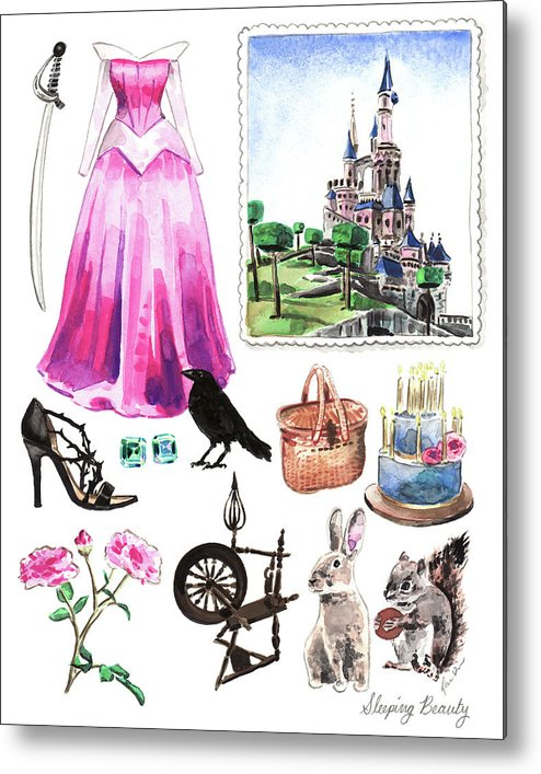 494x707 Sleeping Beauty Aurora Costume Watercolor Disney Princess Castle