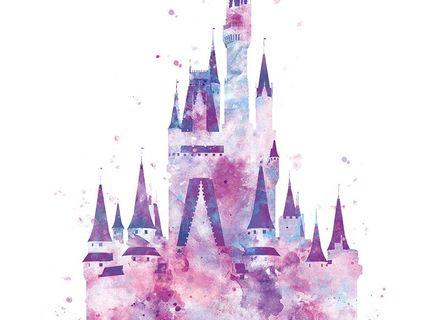 440x320 Wall Art Decor Ideas Girlish Princess Disney Castle Wall Art