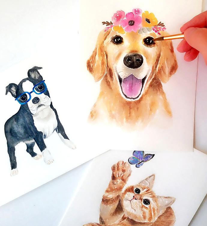 690x754 Custom Pet Portrait, Dog Portrait, Cat By Breezy Bird Goodies