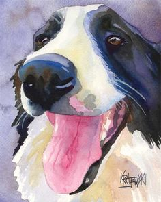 Watercolor Dog Art