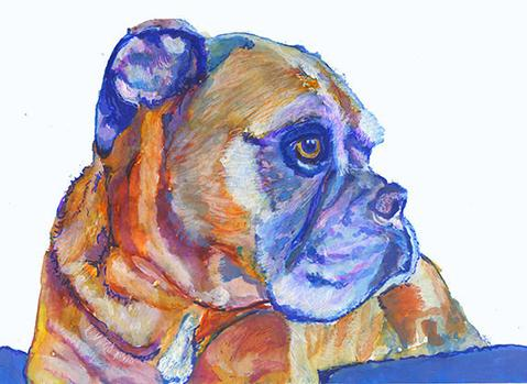 479x349 Custom Dog Portrait, Watercolor Dog Painting , Dog Watercolour
