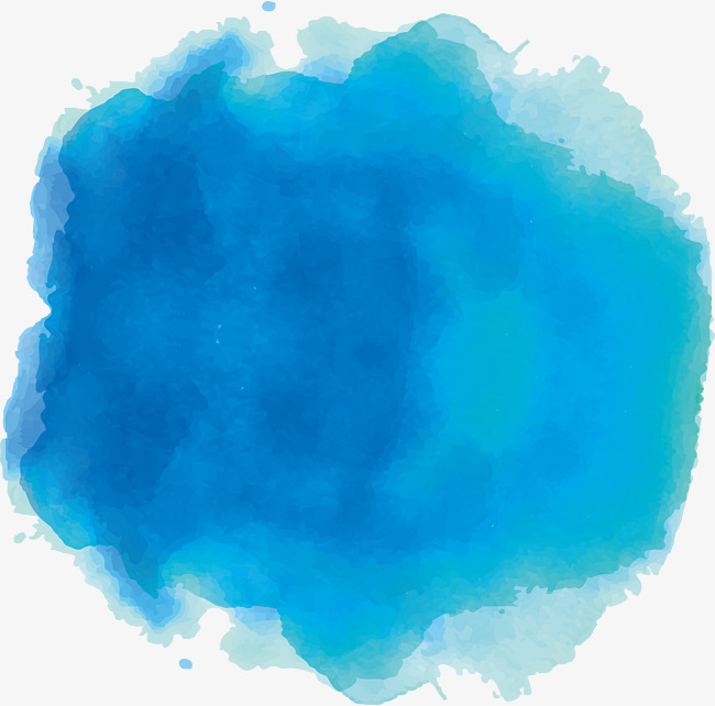 650x642 Sky Blue Watercolor Dot, Vector Png, Ink, Blue Dots Png And Vector
