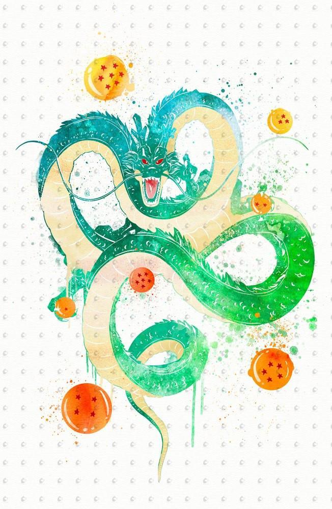 652x1000 Dragon Ball Watercolor Poster Penelopeloveprints