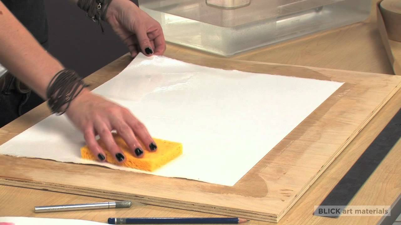 1280x720 How To Stretch Watercolor Paper