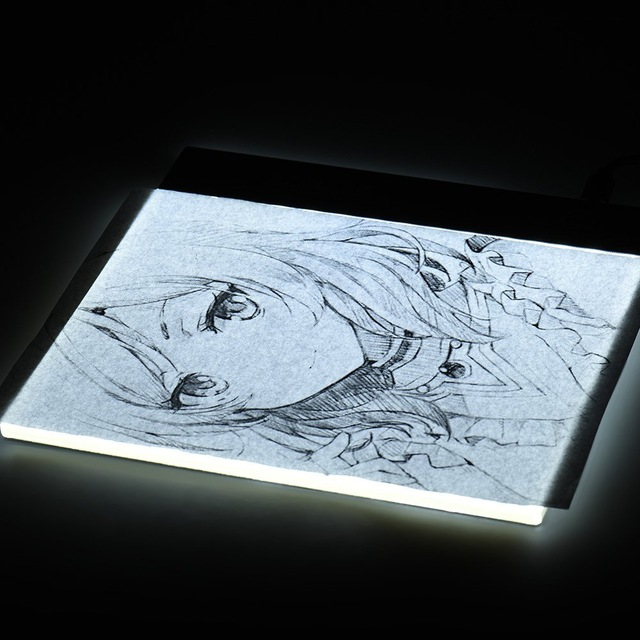 640x640 Led Drawing Board Light Pad Ultra A4 Drawing Table Tablet Light