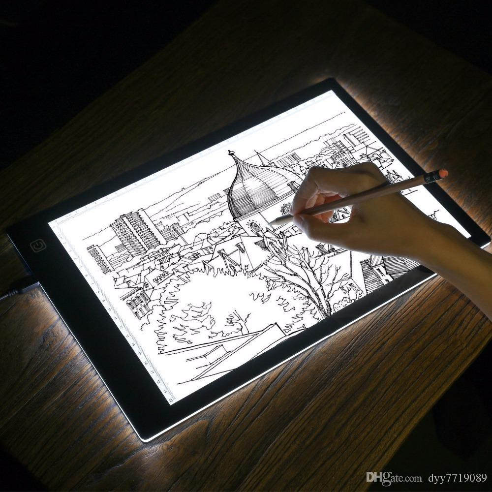 1000x1000 Online Cheap Led Lighted Drawing Board Ultra A4 Drawing Table