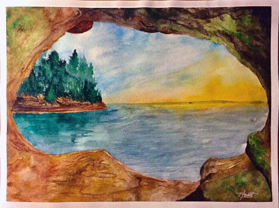 960x718 Watercolor Painting Scenic