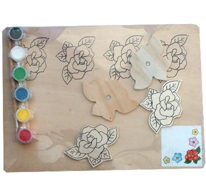 420x400 China Diy Educational Watercolor Flower Drawing Board Set Wooden