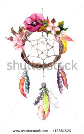 294x470 Dream Catcher (Dreamcatcher) With Feathers, Autumn Leaves And
