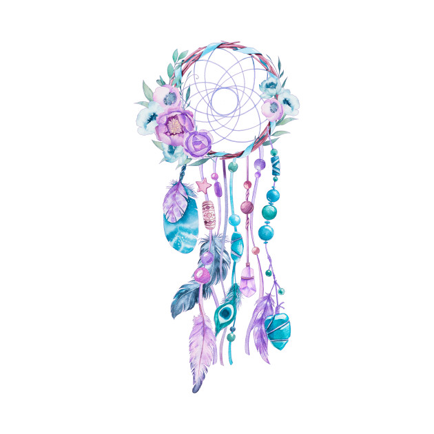 630x630 Dreamcatcher Colorful Boho Watercolors