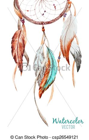 298x470 Dreamcatcher. Beautiful Vector Image With Nice Watercolor