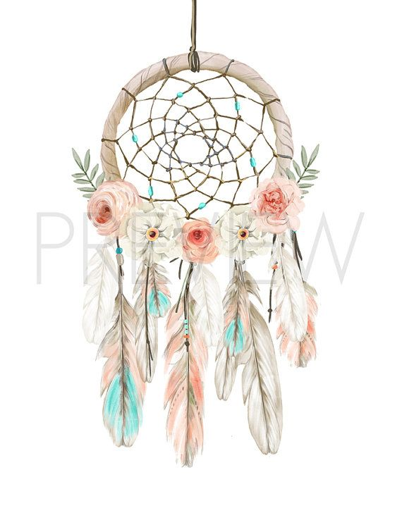 570x738 Nursery Art, Dream Catcher, Nursery Print, Boho, Watercolor Flower
