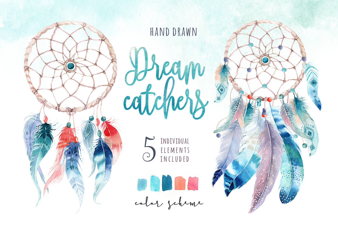 1400x931 30% Off Watercolor Dreamcatcher Iii By Peace Shop
