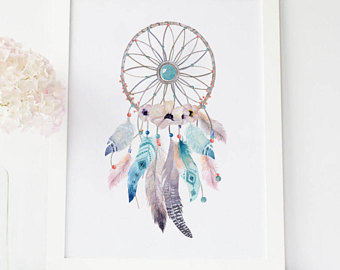 340x270 Watercolor Dreamcatcher Dream Catcher Art Dreamcatcher Print