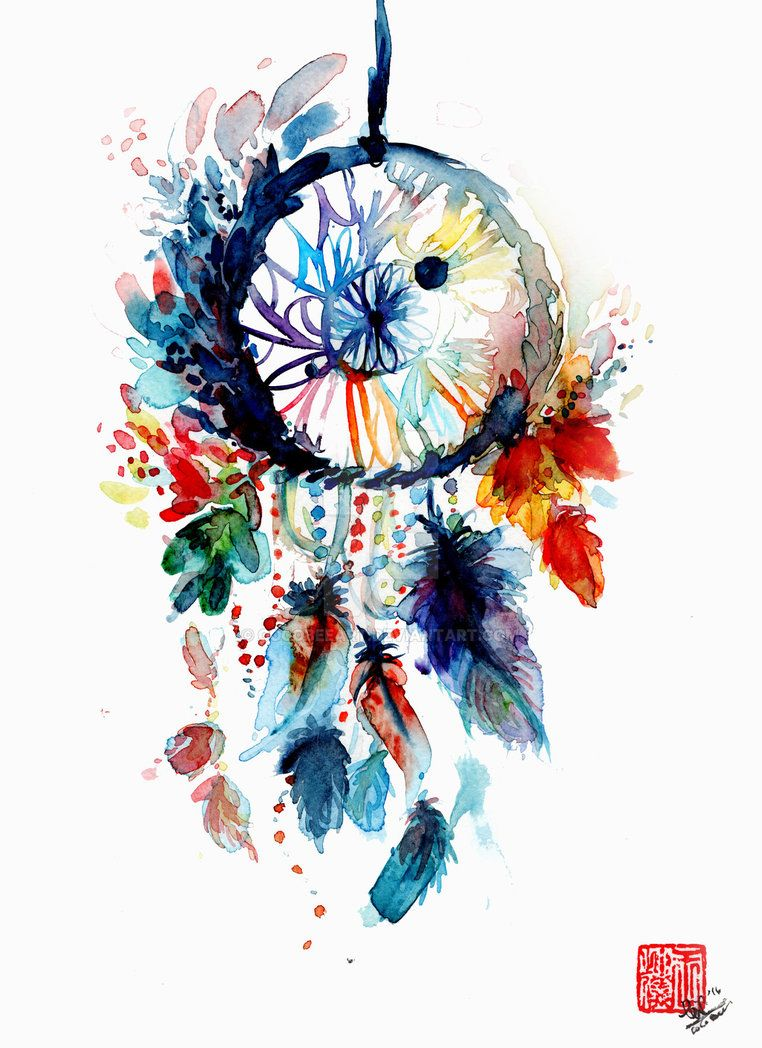 762x1048 Watercolor Dreamcatcher By Cocobeeart