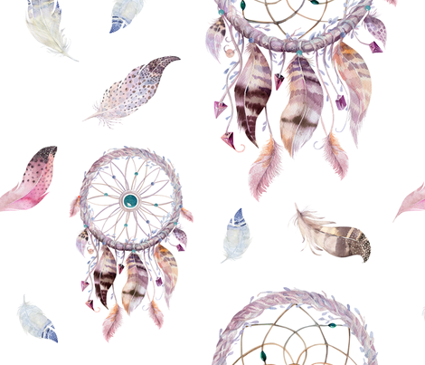 470x403 Watercolor Dreamcatcher And Feathers2 Wallpaper