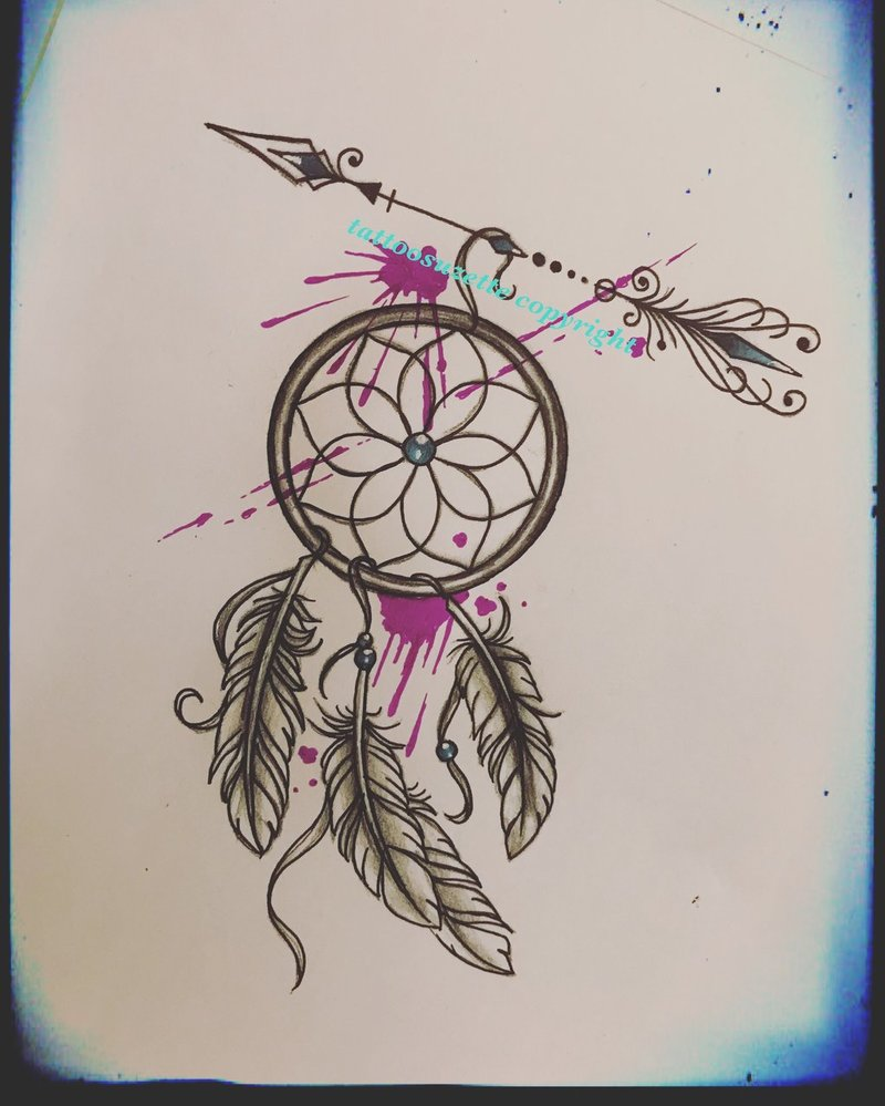 800x999 Watercolor Dreamcatcher Tattoo Design By Tattoosuzette