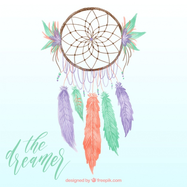 626x626 Background Of Pretty Watercolor Dream Catcher Vector Free Download
