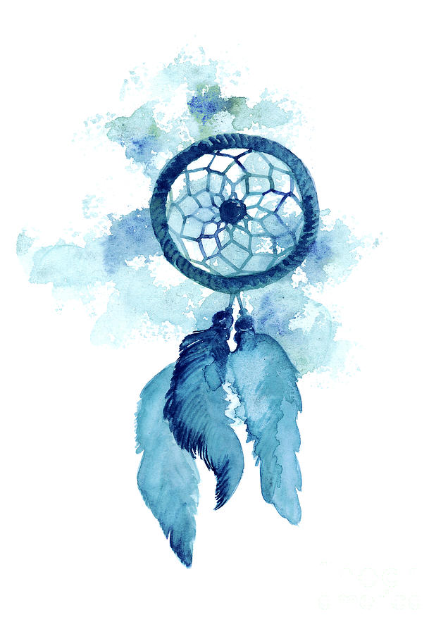 636x900 Dream Catcher Watercolor Art Print Painting Painting By Joanna Szmerdt