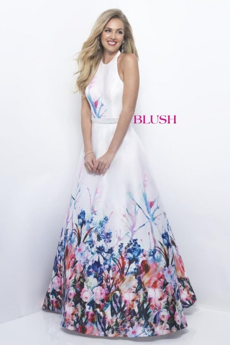 470x705 Blush 11229 Watercolor Floral Prom Dress French Novelty