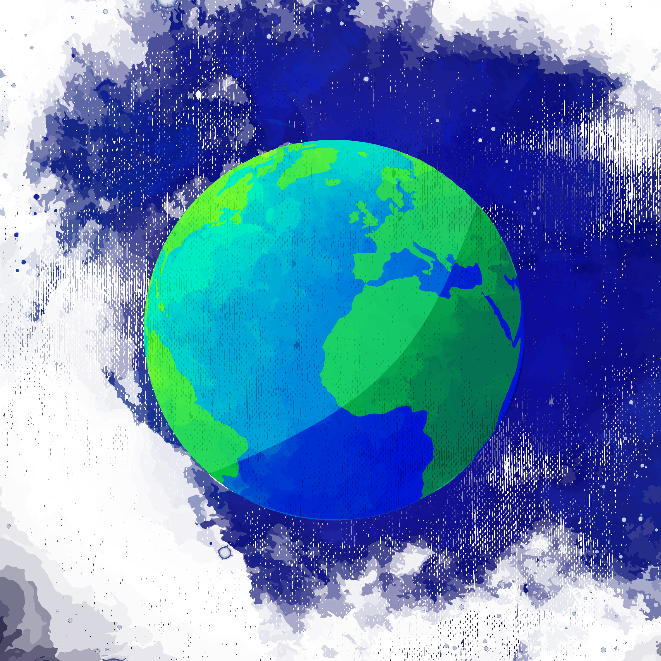 2100x2100 Collection Of Free Earth Transparent Watercolor. Download On Ubisafe