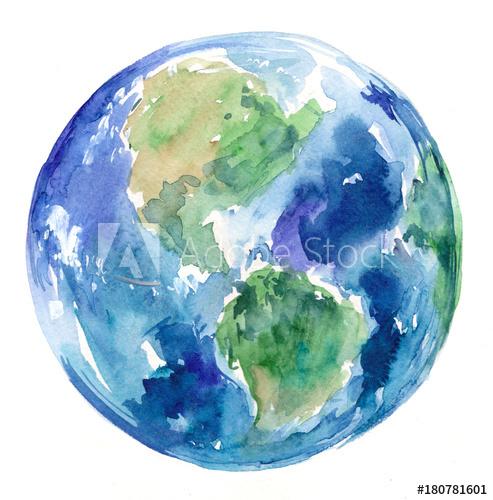 493x500 Watercolor Earth