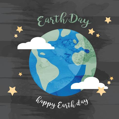 490x490 Watercolor Earth Day Illustration
