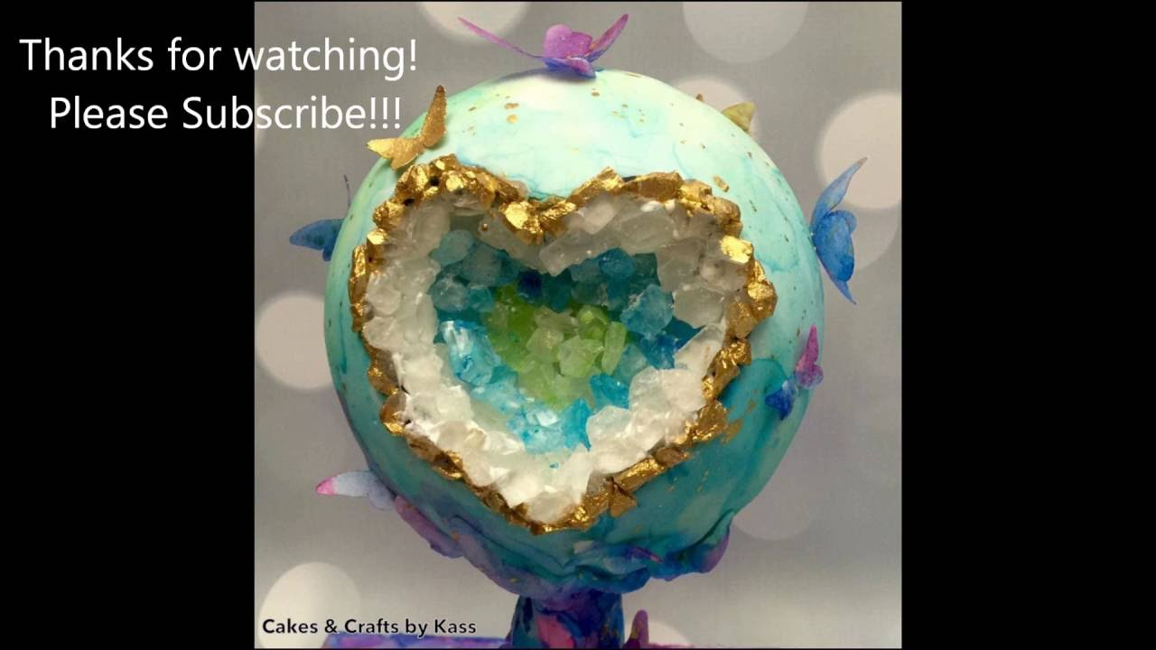 1280x720 Watercolor Earth Geode Time Lapse