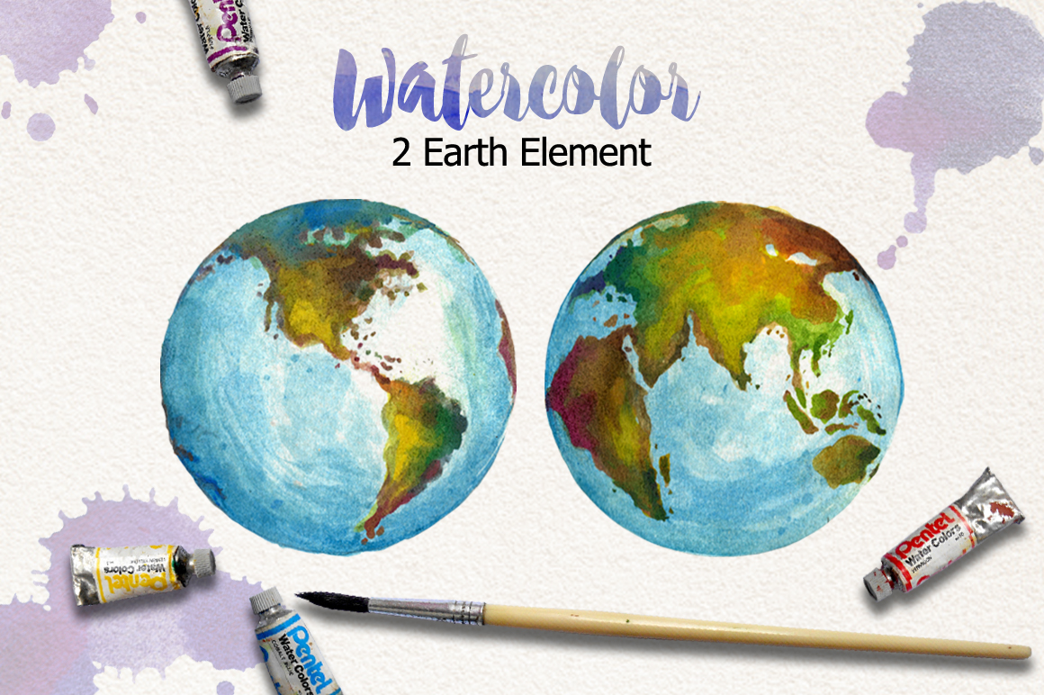 1160x772 Watercolor Earth By Graphobia