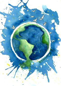 236x332 Watercolor Of Earth