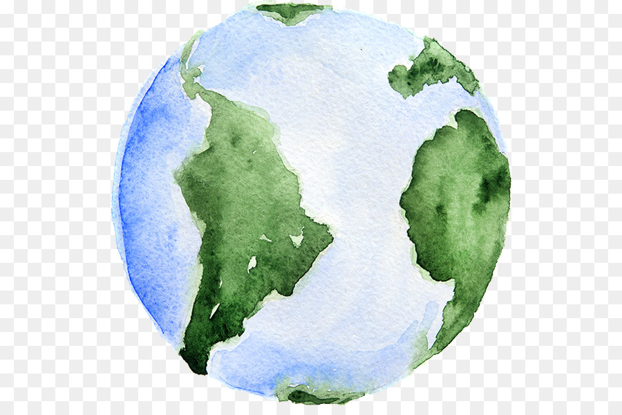 900x600 Earth Watercolor Painting Royalty Free