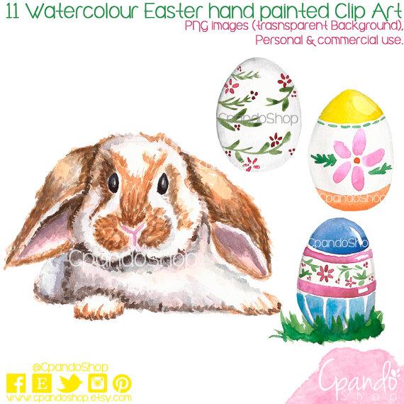 Watercolor Easter