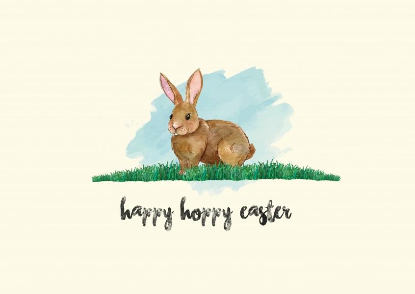846x600 Happy Hoppy Watercolor Easter Bunny Happy Easter Send Real