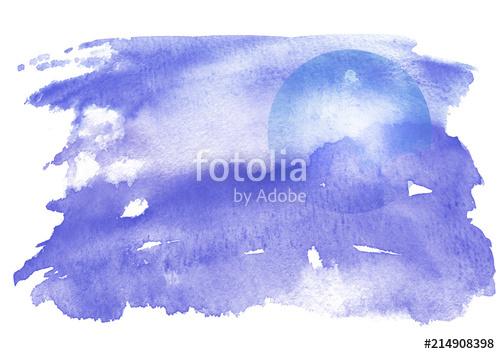 500x354 Watercolor Blue Background, Blot, Blob, Splash Of Blue Paint
