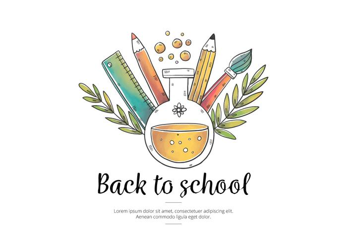 700x490 Vector Watercolor Elements With Leaves For Back To School
