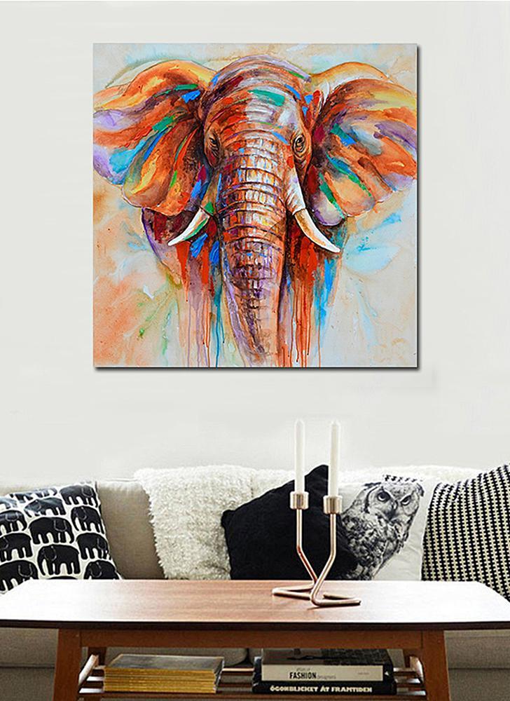 Watercolor Elephant Head