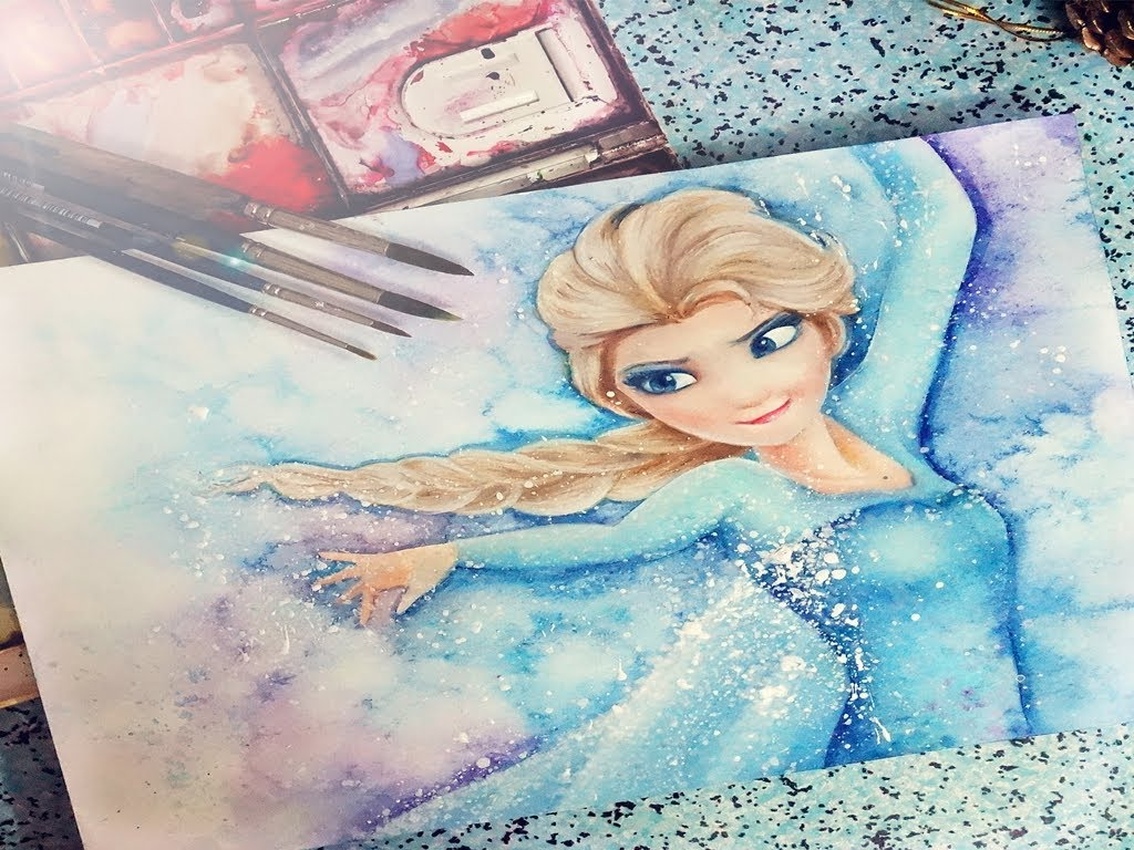 1024x768 Elsa From Frozen Painting