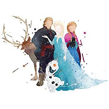 350x350 8x10 P16 Frozen Poster.inspired Watercolor Art Print