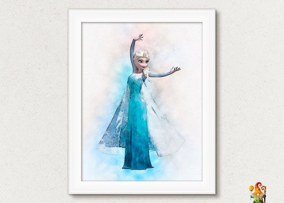 570x407 Elsa Frozen Print Poster Elsa Princess Print Printable Disney