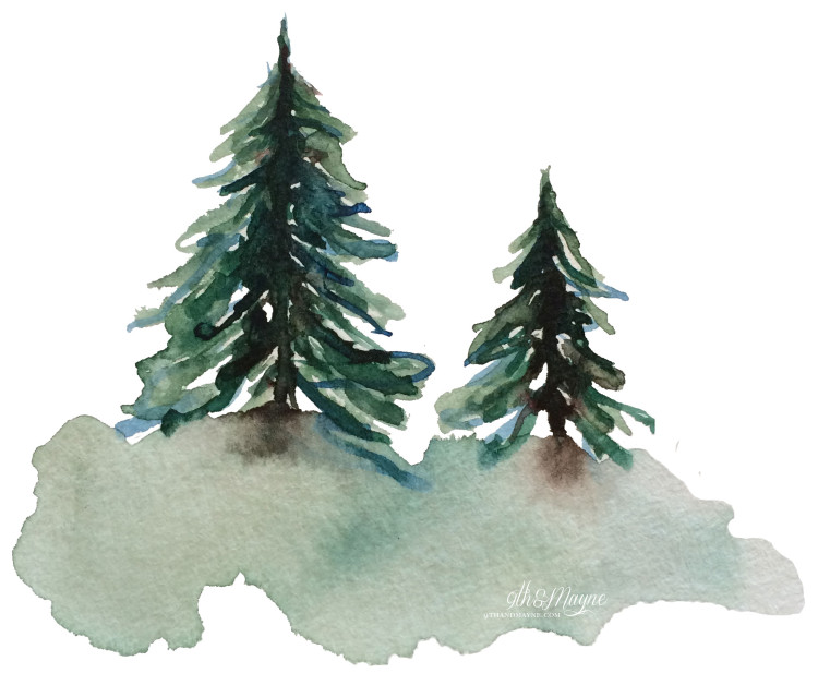 750x628 Watercolor Trees Part 2