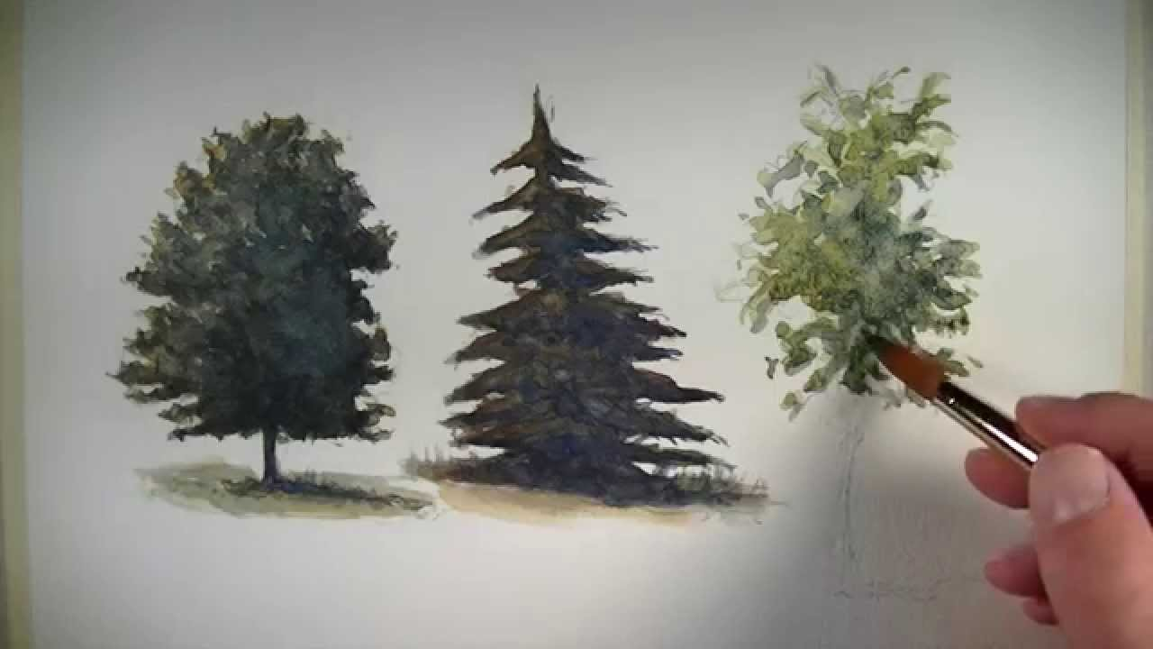 1280x720 How To Paint Trees With Watercolor