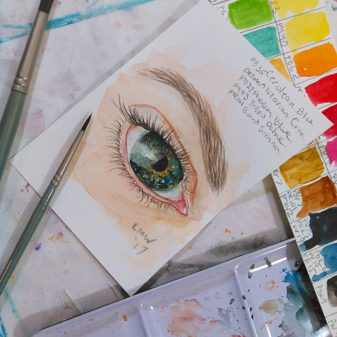 1080x1080 Learn To Paint An Eye In Watercolor! {Step By Step Real Time