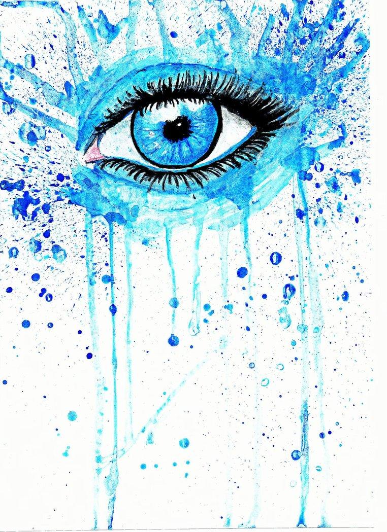 762x1049 Painting Eyes In Watercolor Arab Eyes, Watercolor Painted Stock