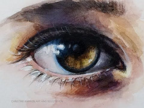 480x360 Pictures Eye Watercolour Painting,