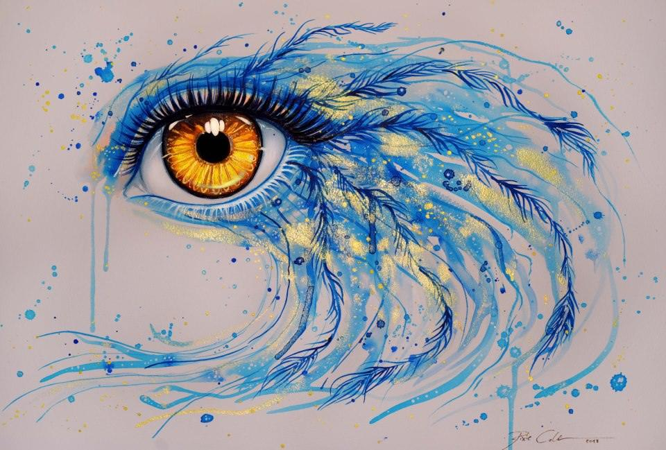 960x649 Svenja Jodicke Adds Bird Feathers To This Watercolor Painting Of A