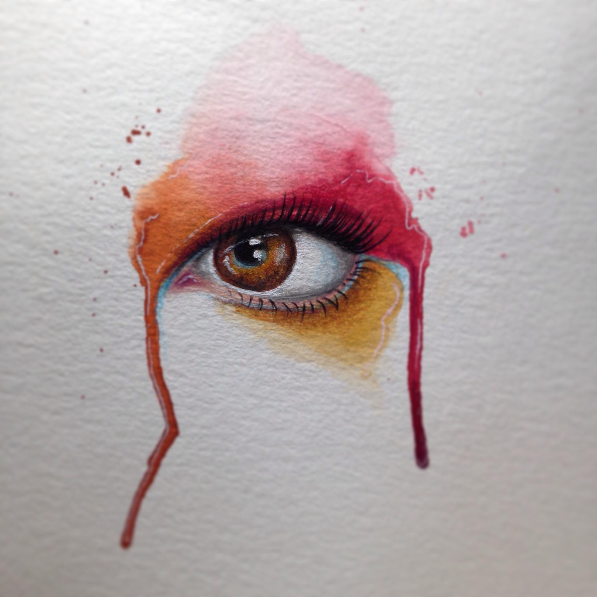 2048x2048 Watercolor Eye Painting By Constantina Pratsas Lopez