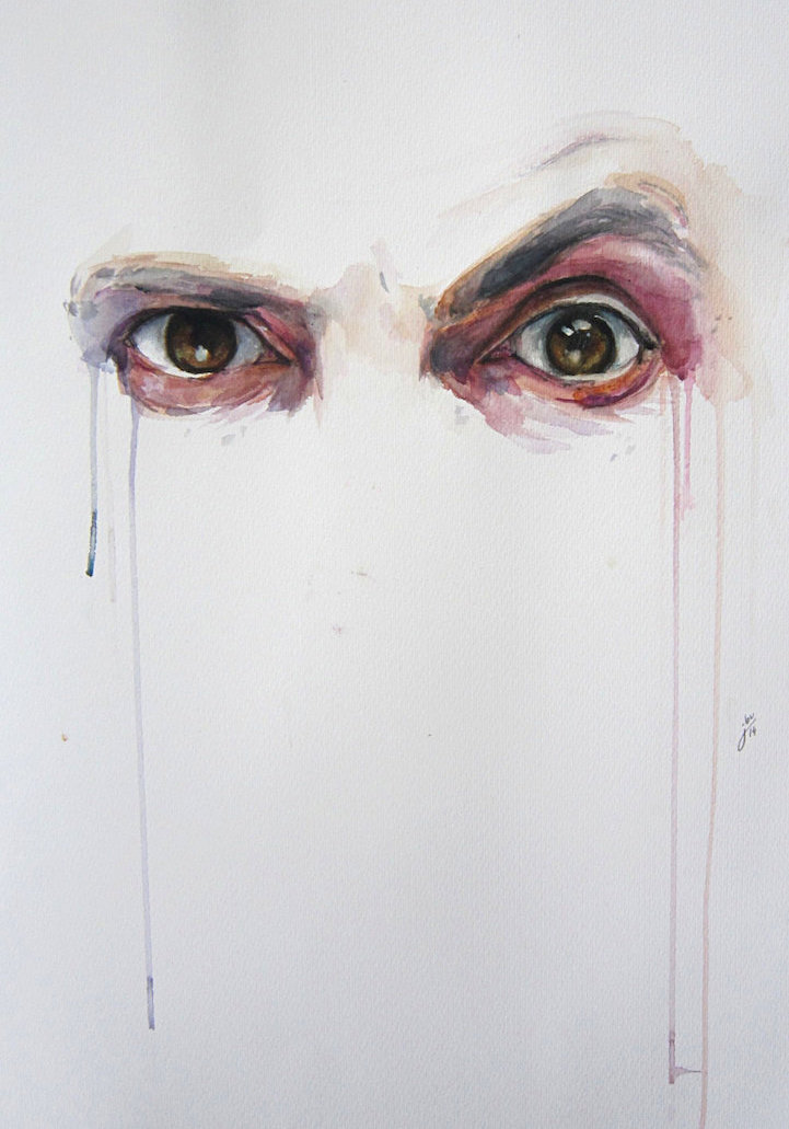 721x1031 Alluring Watercolor Paintings Prove That Eyes Are Windows To The Soul