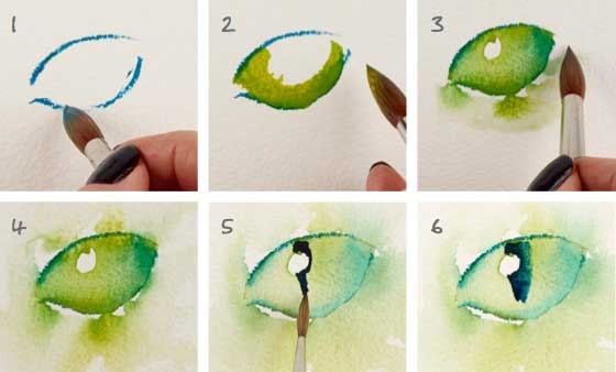 560x338 Watercolor Lesson How To Paint Cat Eyes
