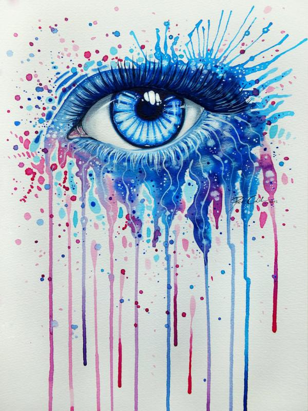 600x800 Watercolor And Acrylic Paintings Of Eyes By Svenja